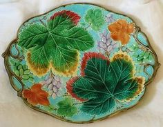 Very Beautiful Antique English Majolica Platter Plate Marked Wedgwood | eBay