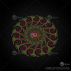 Desenho de strass Mandala NEON - Ref.: 1602