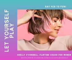 Flirting is a form of play. You do it for the fun of it. I am Shelly O'Connell, Flirting Coach for Women. I coach women to reframe flirting as a form of play and to deconstruct the patriarchal bs about it that limits women. Visit me on Facebook to learn more. Confidence Coaching, You Are Enough, Strong Hair, Confident Woman, Grow Hair, Bel Air, Healthy Relationships, Flirting, Salons