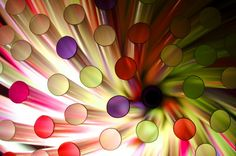 Wonderfully abstract and colorful. Ingenious to use colored straws to bring color into the photo. Would look nice framed in an eclectic designed interiors.
