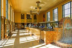 The Great Hall of Water's Bar ~ Excelsior Springs, Missouri USA ~ Copyright ©2013 Bob Travaglione. ALL RIGHTS RESERVED ~ www.FoToEdge.com