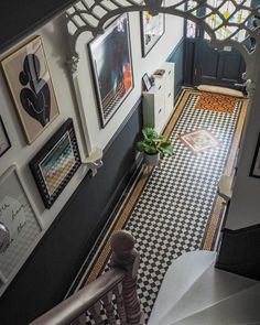 Entry Hallway Floor Hallway Tile Ideas Hall With Narrow Hallway Tiled Floor Narrow Hallway Home Entryway Decor Design Room, Flur Design, House Design, Edwardian Haus, Edwardian Hallway, Entrance Hall Decor, Entrance Halls, Entryway Decor, Victorian House Interiors
