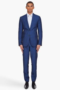 Suit for the modern groom, DSquared: Navy Woven Suit