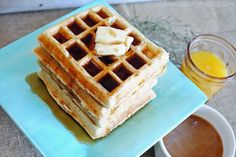 Fluffy Waffles made with Coffee-mate Creamer: fun to switch up flavors with different creamer flavors.