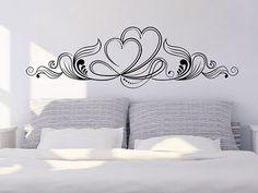Hochzeitsdeko in schwarzweiß | Wandtattoo Ornament mit Herzen - gibt's natürlich auch in bunt :)