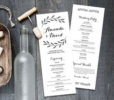 Hey, I found this really awesome Etsy listing at https://www.etsy.com/listing/488507541/rustic-wedding-program-template-order-of