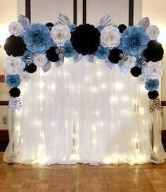 Wedding Ceremony Backdrop #paperbloomtwist #weddingbackdrop #weddingdecor #paperflowers #flowerwall #flowerwallbackdrop #dmvrentals…