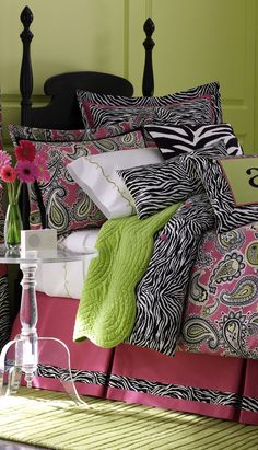 not exactly what I'm looking for, but love the idea of mixing the fabrics/ incorperating the zebra