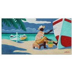 Trademark Fine Art Antigua Canvas Art by Antonio, Size: 24 x 47, Multicolor