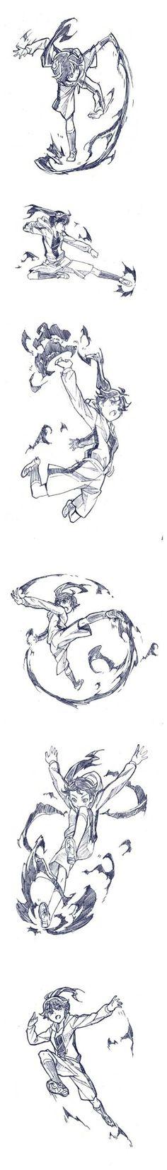 干货分享!动漫人物绘画技巧之格斗动作篇