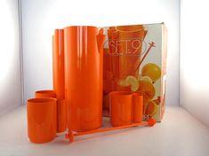 Vitrac Set 9 french orangeade service in his box /  Jean