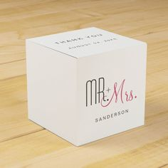 Retro Modern Wedding Favor Box