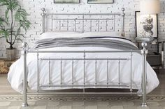 King Size Bed Frame - A good sleep starts with a good bed or bed frame. Whether you're looking for queen, king, twin or double size beds Metal Bed Frame, Bed, Twin Bed Frame, King Size Bed Frame, Steel Bed Frame, Bed Frames For Sale, Bed Images, King Size Bed, Bed Frame Design