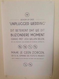 Tekstbordje Unplugged Wedding