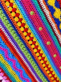 Stripey Blanket van de Crochet Along 2014 http://lindevrouwsweb.blogspot.nl/2014/02/gestreepte-deken-stripey-blanket.html