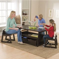 Height Adjustable 2 In 1 Table And Chairs Collection: Designed By One Step
