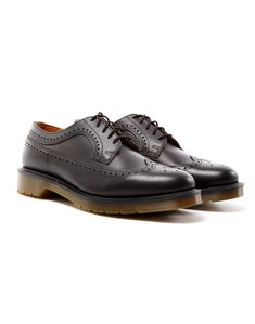 Dr Martens Wingtip Brogue Black | Shop men's shoes and clothing at The Idle Man