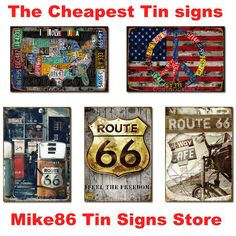 Aliexpress.com : Buy [ Mike86 ] Love Metal Tin signs wall decor House Office Restaurant Bar Metal Painting art B 132 Mix order 20*30 CM from...