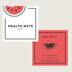 Business Card Design for a health food chain of restaurants. Logo Design, Branding  www.atfirstblink.com