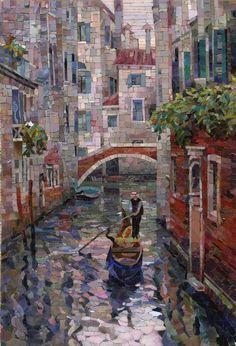 Мозаичная Картина Гондольер