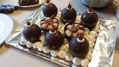 La bûche boules de Noël aux 4 chocolats de Mathilde