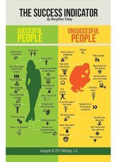 Typische Anzeichen für Erfolg | The Success Indicator | Infografik | Infographic