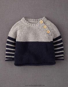 Baby Knitting Patterns Winter knit pullover sweater @ Juxtapost.com
