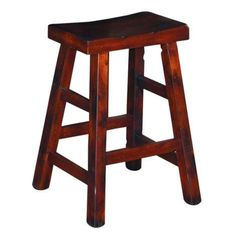 Dark Chocolate Santa Fe Saddle Seat Stool, 24