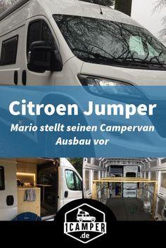 c1b71817b4 Mario erzählt im Interview auf 1camper über den Umbau seines Citroen Jumper  zum Campervan. Er