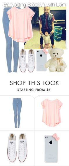 """Babysitting Brooklyn with Liam"" by elise-22 ❤ liked on Polyvore featuring Topshop, Bershka, Converse and Aurora World"