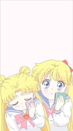 Serena y Minako Sailor Moon Stars, Sailor Moon Crystal, Arte Sailor Moon, Sailor Moon Usagi, Sailor Moon Tumblr, Sailor Venus, Wallpapers Sailor Moon, Sailor Moon Wallpaper, Sailor Scouts
