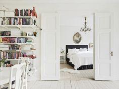Minimalist bedroom with an open floor plan