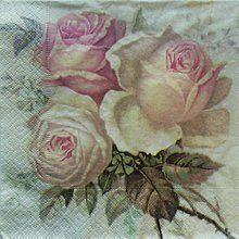 Papier - S600 - Servítky - Sagen vintage - 3 ruže - 6296373_