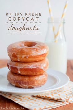 the baker upstairs: krispy kreme copycat doughnuts