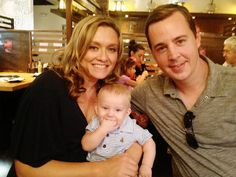 Sean Murray with wife Carrie James and son River Ncis Series, Tv Series, Timothy Mcgee, Sean Murray, Ncis Cast, Pauley Perrette, Ncis New, Mark Harmon, All In The Family
