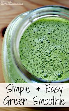 Start your day off right with this simple, easy green smoothie recipe! This easy green smoothie recipe takes no time & is delicious & healthy Easy Green Smoothie Recipes, Healthy Smoothies, Green Smoothies, Cooking Recipes, Healthy Recipes, Healthy Foods, Breakfast Dishes, Yummy Drinks, Sweet Recipes
