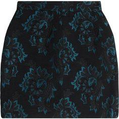 Roberto Cavalli Jacquard Mini Skirt ($235) ❤ liked on Polyvore featuring skirts, mini skirts, bottoms, black, roberto cavalli, short mini skirts, slim skirt, zipper mini skirt and evening skirts