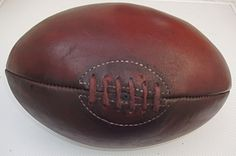 Vintage rugby ball - so glad they got rid of the stitches! Rugby, Chic Tattoo, Art Of Manliness, Vintage Leather, Vintage Items, Primary School, Rid, Stitches, Anna