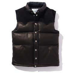 DOWN VEST / DEERSKIN – The Real McCoy's Deer Skin, Down Vest, Im Not Perfect, Jackets, Clothes, Black, Winter, Fashion, Down Jackets
