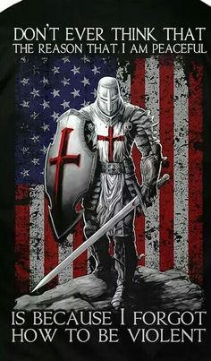 Stand up men. Be the warriors God intended. He didn't raise you up to be victims of man or Satan's schemes Samurai, Christian Warrior, Templer, Eastern Star, Military Humor, Armor Of God, Chivalry, Knights Templar, God Bless America