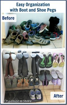 Boot and Shoe Peg Organization