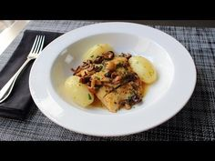 Food Wishes Video Recipes: Pan-Roasted Halibut with Clamshell Mushrooms & Lemon Butter Sauce – Long in Name, Short in Shopping List