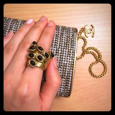 YSL Arty Dot Ring Black YSL Dot Ring. Authentic! Don't use fake  Yves Saint Laurent Jewelry Rings