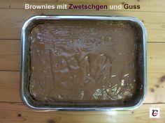 Brownies mit Zwetschgen & Guss