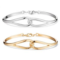 Bracelet with two connecting open teardrop shapes in the front of the bracelet. Regularly $19.99, buy Avon Jewelry online at http://eseagren.avonrepresentative.com