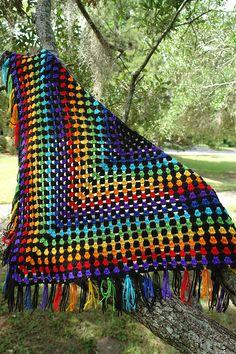 Half Granny Square Shawl By Anastacia Zittel - Free Crochet Pattern - (ravelry)