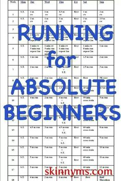 running schedule who are just starting