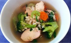 Never Be Bored Again: 5 Creative Ways To Prepare Brown Rice - Herb Chicken Rice Soup - Bodybuilding.com