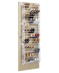Over Door Shoe Rack, Shoe Rack Closet, Diy Shoe Rack, Shoe Racks For Closets, Door Shoe Organizer, Shoe Closet Organization, Bedroom Organisation, Shoe Organiser, Organization Ideas