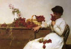 Arranging Flowers - Frank Bramley